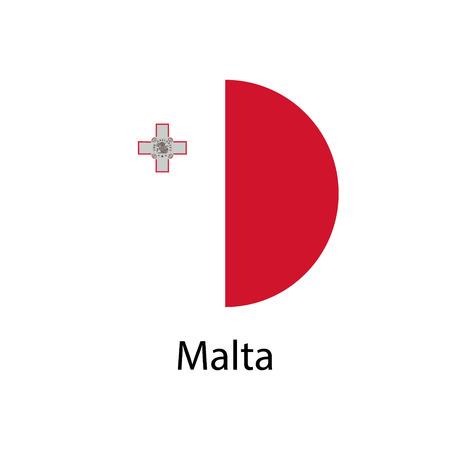 Malta national flag Illustration