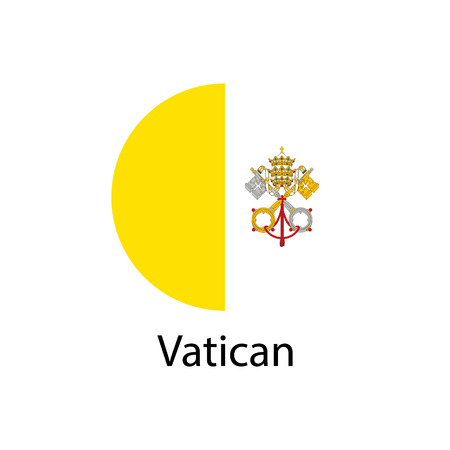Vector Vatican flag, Vatican flag illustration, Vatican flag picture, Vatican flag image,