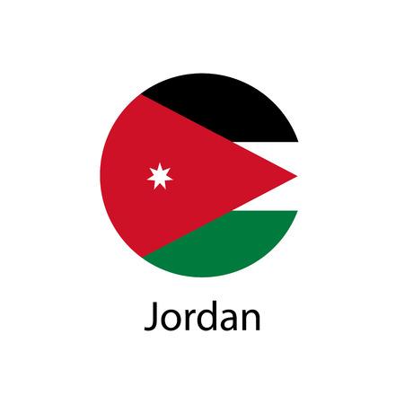 Jordanië vlag vector Stock Illustratie