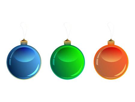 Colorful christmas balls. Illustration