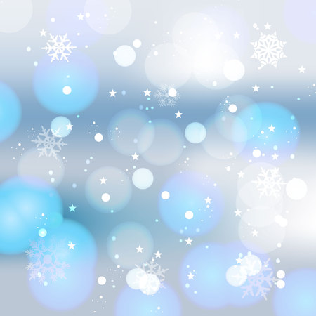 Winter card with snowflakes. Illustration