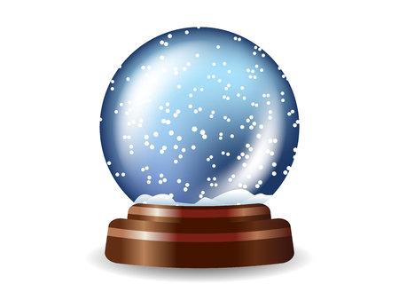 Colored snow globe composition
