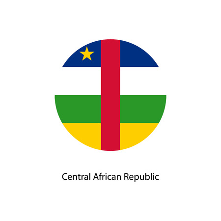 The Flag Of Central African Republic In The Form Of A Circle ...