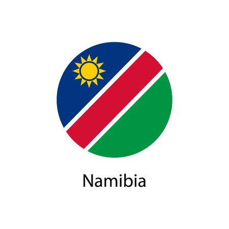 Simple vector button flag Namibia