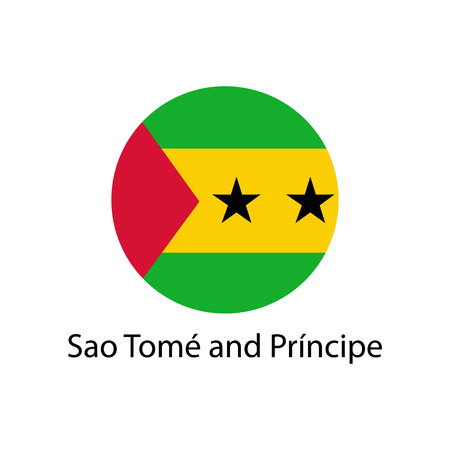 Sao Tome and Principe flag button