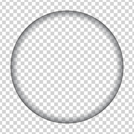 hole cut in the shape of a circle with shadow on a transparent background Ilustração