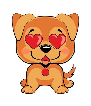 Set of dog character illustrations in vector hand drawn cartoon style. As logo, mascot, sticker, emoji, emoticon