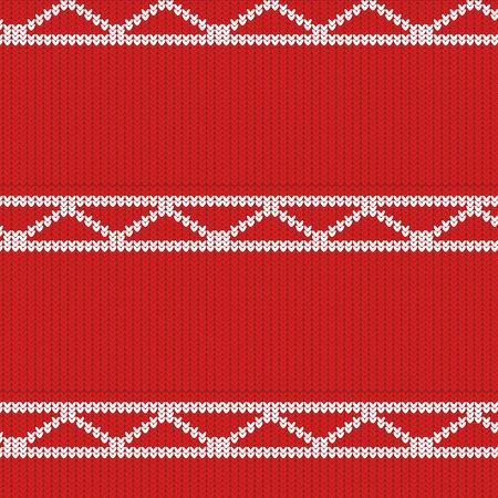 texture tricotée de couleur rouge avec un motif blanc sous forme de diagonales et de rayures