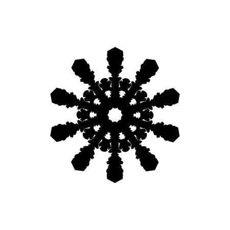 Snowflake icon illustration, in trendy flat style isolated on white background. Snowflake vector. Winter snowflake icon image