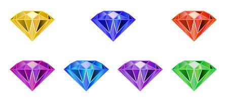 Set gemstone, diamond of multi color