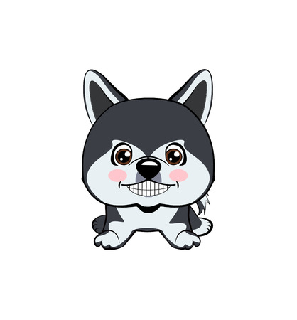 Vector illustration of Angry Dog. dog Alaskan Malamute. 免版税图像 - 107235001