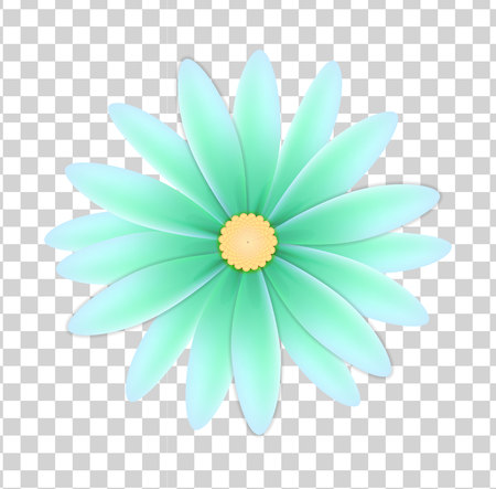 simple flower of blue colors on a transparent background Vettoriali
