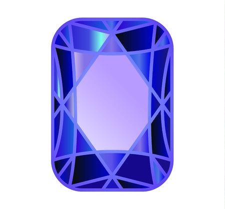 DIAMENT, kamień szlachetny oszlifowany na niebiesko