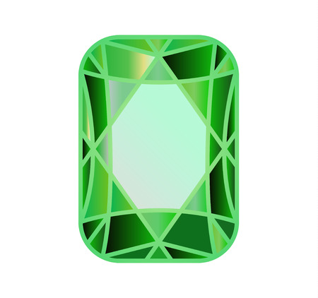 DIAMOND, precious stone cut of green Ilustracje wektorowe