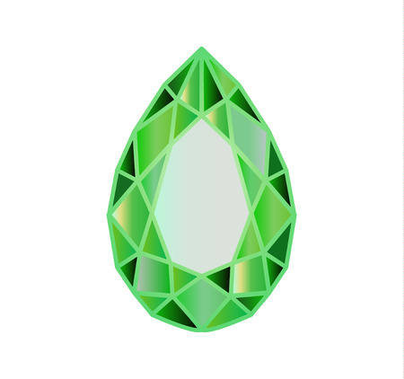 gemstone, diamond in the form of a pear drop
