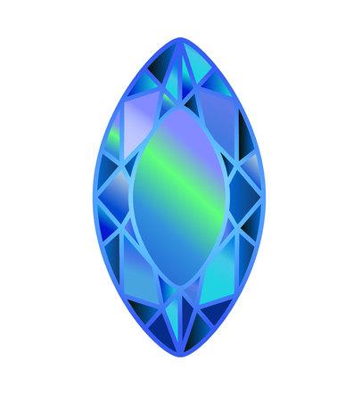 DIAMANT, pierre précieuse. auvent coupé de bleu