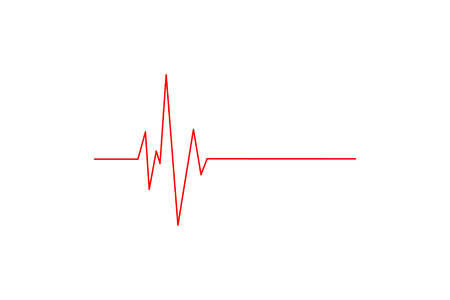 Heart rhythm. Cardiogram. Isolated on white background Icon