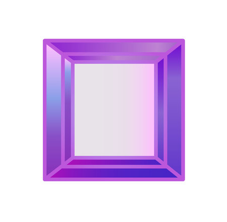 Diamond, precious stone cut square of violet 向量圖像