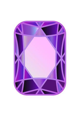 DIAMOND, precious stone cut of violet