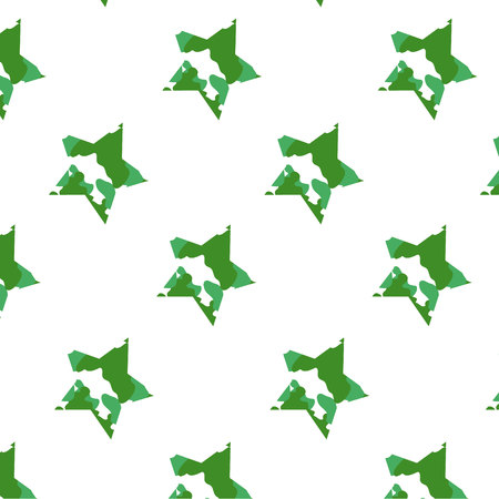 star pattern with camouflage pattern white background
