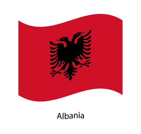 Vector illustration, image of Albania flag