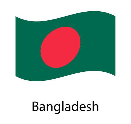 Flag of Bangladesh. Realistic waving flag of People's Republic of Bangladesh. Fabric textured flowing flag of Bangladesh. Vecteurs