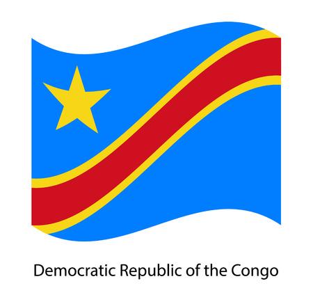 Democratic Republic of the Congo flag. Vector illustration.