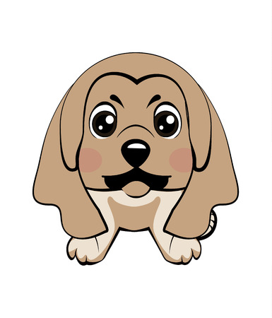 Vector illustration of Angry puppy Illustration