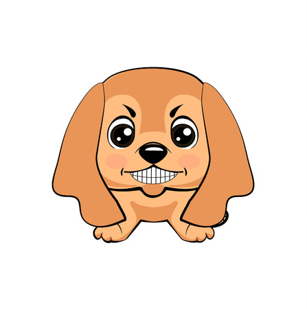 English Cocker Spaniel dog. Vector illustration of Angry puppy