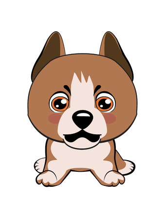 Staffordshire Terrier dog. Vector illustration of Angry puppy 矢量图像