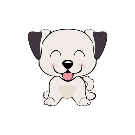 Anatolian Shepherd Dog. Isolated colorful head and face of happy labrador retriever on white background. Color flat cartoon breed dog portrait Illustration