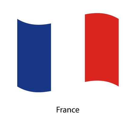 Flag of France. Vector Illustration waving isolated vector illustration eps10.