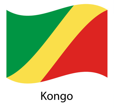 Republic of the Congo flag , official colors and proportion , accurate vector illustration