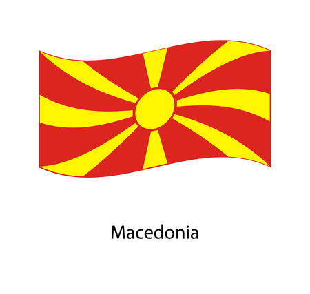Flag of Macedonia ,Macedonia flag official colors and proportion correctly, Macedonia flag waving isolated Stockfoto - 109242075