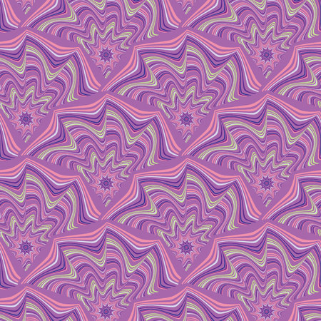 Abstract pattern of wavy lines in pink, violet, white,green, blue 版權商用圖片 - 109242074