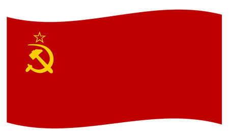 USSR flag Illustration