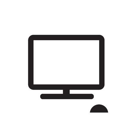 Computer black icon vector illustration