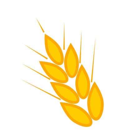 Gold wheat sign. Gluten icon, vector symbol wheat free gluten - healthy organic food, bread illustration Illustration
