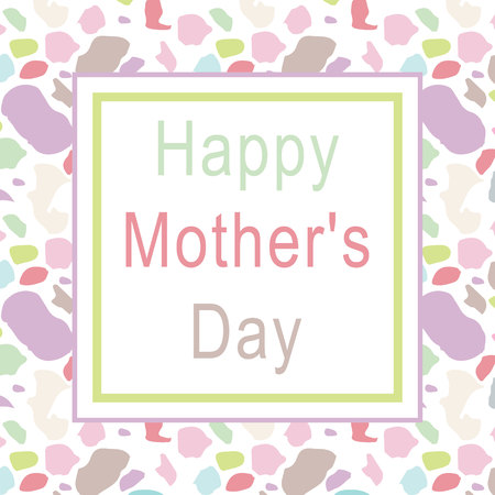 happy mother s day greeting card vector