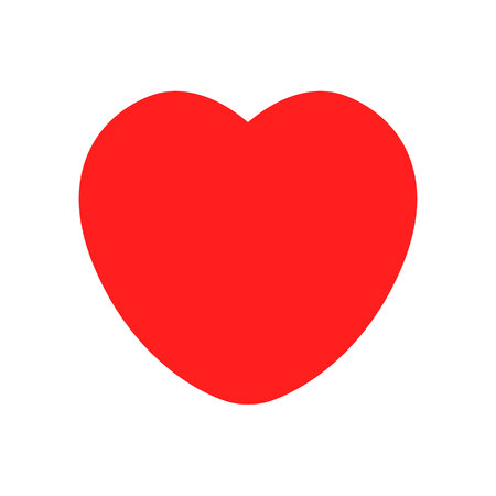 vector icon red heart favorite Icon isolated on White Background
