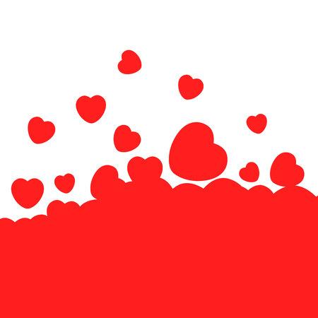hearts card. Simple design. Hearts love background. Illustration