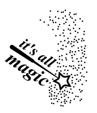this is all magic wand magic vector icon Ilustração