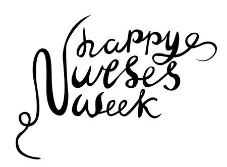 Happy Nurses Week vector, hand lettered happy nurses week vector, hand drawn vector Banque d'images - 113464782