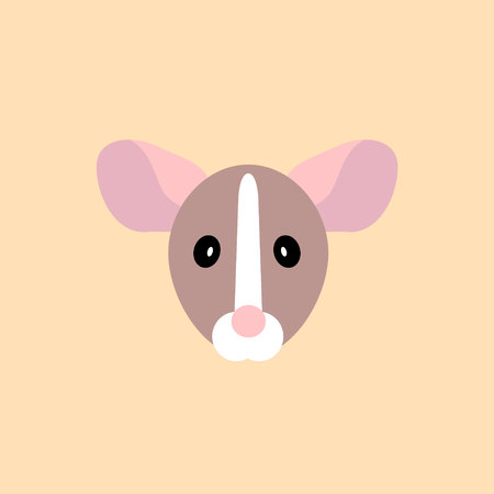 muzzle rat simple icon. Vector illustration