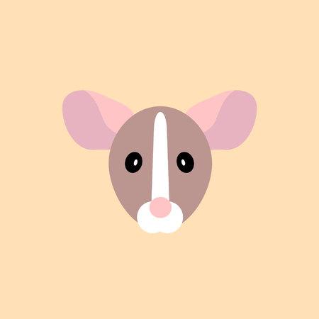 muzzle rat simple icon. Vector illustration