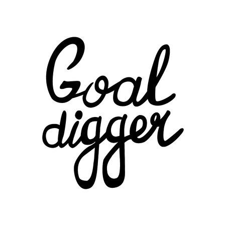 Goal digger BLACK PRINT MARKER