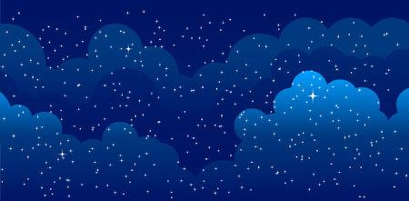 Night time sky background. Good night. Conceptual idea Vecteurs