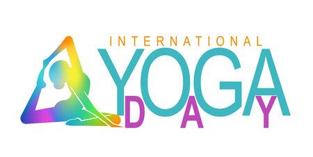 international yoga day with woman