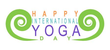 international yoga day Vektorové ilustrace