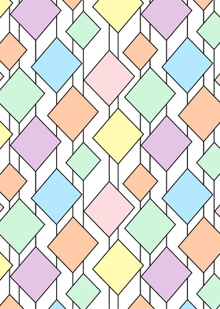 a pattern with multi-colored rhombuses